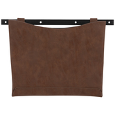 Brown Faux Leather Wall Container