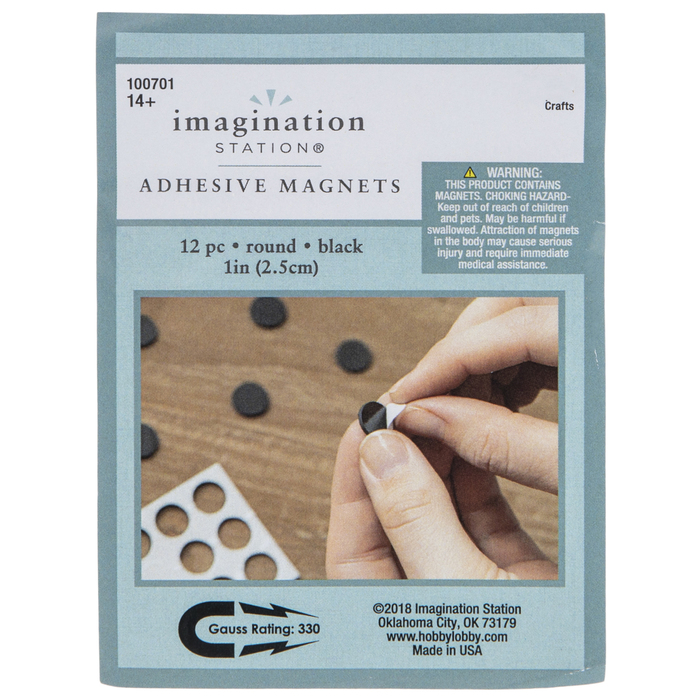 Round 1-78 Magnets with Peel and Stick Adhesive MAGNETS ONLY 500 pcs