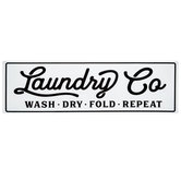 Laundry Co Metal Sign