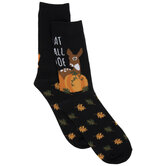 Dat Fall Doe Pumpkin Crew Socks