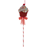Cupcake With Foam Sprinkles Pick