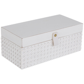 White French Cane Wood Box