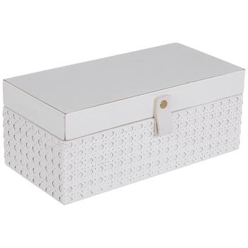 White French Cane Wood Box