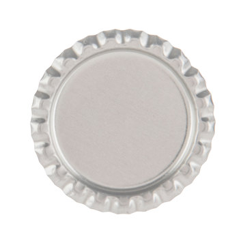 Silver Flat Bottle Cap Embellishments