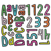 Multi-Color Outlined Alphabet Stickers