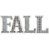 Fall Buffalo Check Wood Decor
