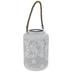 White Light Up Metal Lantern