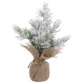 Mini Flocked Cedar Tree
