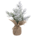 Mini Flocked Cedar Tree
