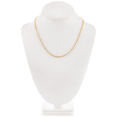 10K Gold Plated Cable Chain Necklace - 18""
