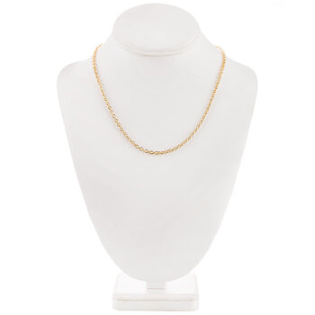 """10K Gold Plated Cable Chain Necklace - 18"""""""