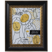 Black & Gold Scroll Wall Frame