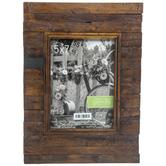 Rustic Slatted Wood Wall Frame