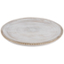 Whitewash & Gold Round Wood Platter - Large
