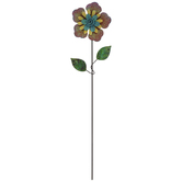 Flower Metal Garden Pick