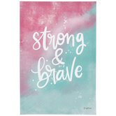 Strong & Brave Canvas Wall Decor
