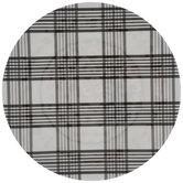 White & Black Plaid Plate