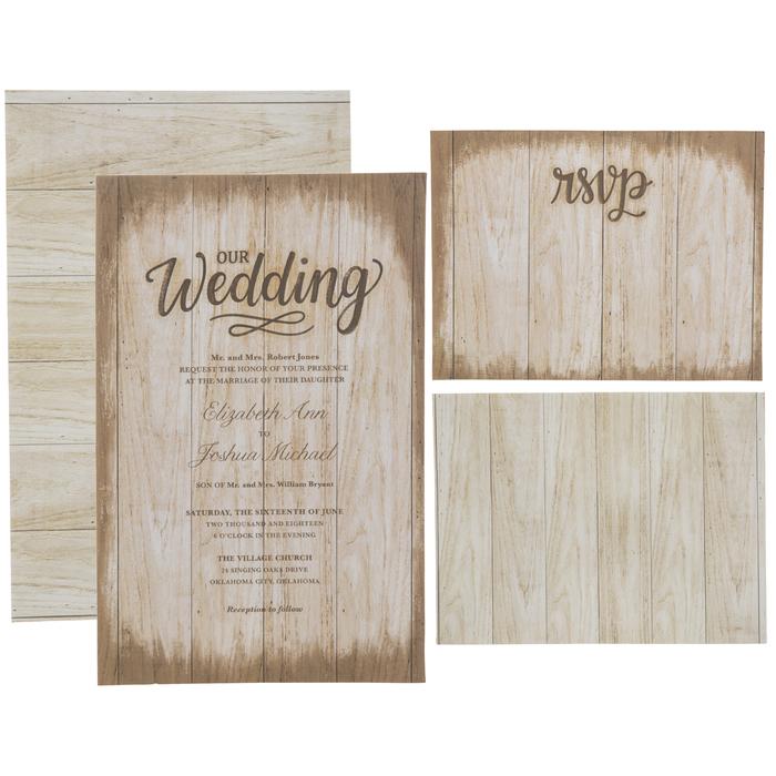 Rustic Wood Pattern Wedding Invitations Hobby Lobby 1735182