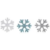 Glitter Snowflakes Foam Stickers