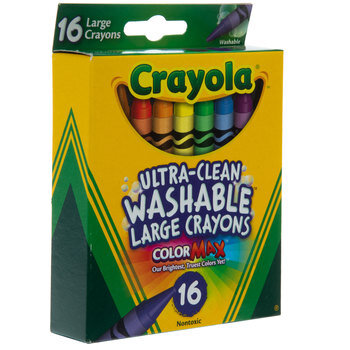 Crayola Ultra-Clean Washable Large Crayons - 16 Piece Set