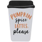 Pumpkin Spice Coffee Cup Wood Decor