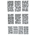 White Outlined Alphabet Stickers