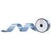 Antique Blue Double-Face Satin Ribbon - 1 1/2
