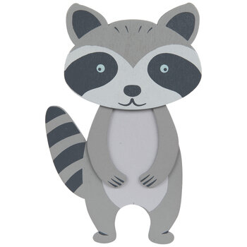 Raccoon Painted Wood Shape