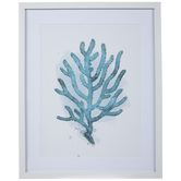 Blue Sea Coral Framed Wall Decor