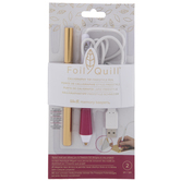 Gold Foil & Calligraphy Tip Quill