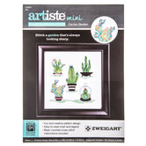 Cactus Garden Mini Counted Cross Stitch Kit