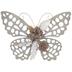 Butterfly & Flowers Metal Wall Decor