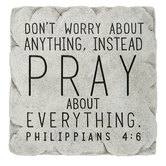 Philippians 4:6 Carved Wall Decor