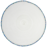 White & Blue Beaded Woven Placemat