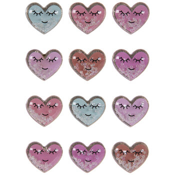 Smiling Hearts Shaker Stickers