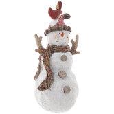 Snowman With Cardinal Ornament