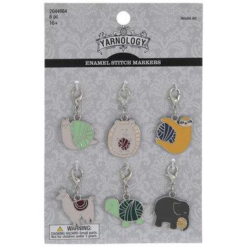 Yarn Ball Animal Enamel Stitch Markers