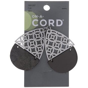 Filigree Teardrop Metal Pendants