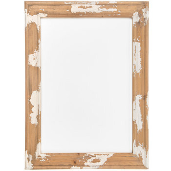 White Sign With Distressed Frame