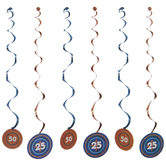 Blue & Orange Bullseye Hanging Decorations