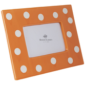 "Orange & White Polka Dot Frame - 4"" x 6"""