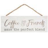 Coffee & Friends Wood Wall Decor