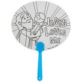 Jesus Loves Me Paper Fans
