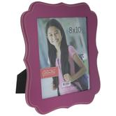 "Hot Pink Quatrefoil Wood Wall Frame - 8"" x 10"""