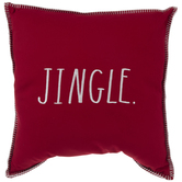 Red & White Jingle Pillow