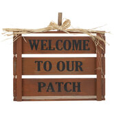 Welcome To Our Patch Pumpkin Wood Decor