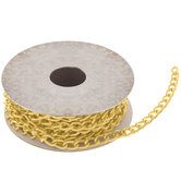 """Light Gold & Silver Accent Link Chain - 3/16"""""""