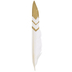 White & Gold Fancy Pointer Feathers - 7