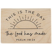 Psalm 118:24 Rubber Stamp