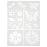Butterfly Floral Adhesive Stencils